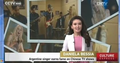 """Daniela Bessia"" Argentine singer earns fame on Chinese TV shows By China International News CCTV"
